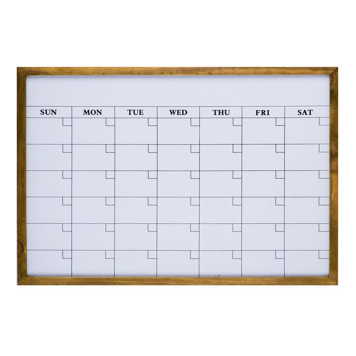 Red barn wood dry erase calendar
